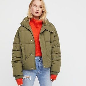 Free people cold rush puffed coat